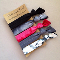 The Black Scarlett Hair Tie-Ponytail Holder Collection