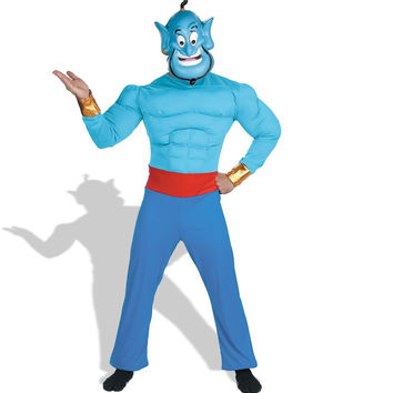 aladdin disney genie muscle adult costume