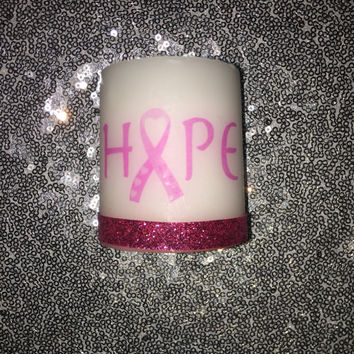 Breast Cancer Hope Candle
