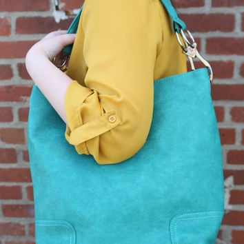 Fashion Handbag by Texas Leather {Turquoise} - 500217