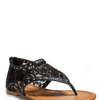 Sequin Lace Sandals