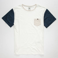 Quiksilver Whip In Mens Pocket Tee White  In Sizes