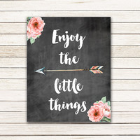 Enjoy the Little Things - 8x10