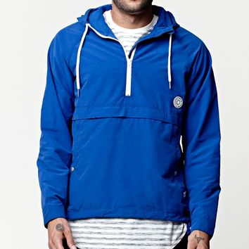 Rhythm Zissou Windbreaker Jacket - Mens Jacket - Blue