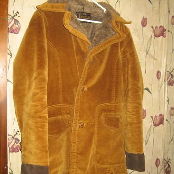 retro mens corduroy carcoat jacket with pile lining by Campus size 38