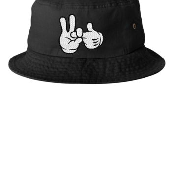 dope 1 to 2 finger in EMBROIDERY - Bucket Hat