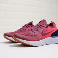 """Nike Epic React Flyknit """"Wine Red"""" Running Shoes AQ0070-601"""