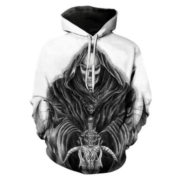 Fashion classic 3D digital print animation print skull and skull Indiana battle God personal comfort travel brand even Hoodie