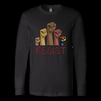 LGBT - Resist - Unisex Long Sleeve T Shirt - TL01170LS