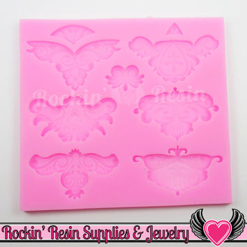 Damask Scroll SILICONE MOLD, Food Grade