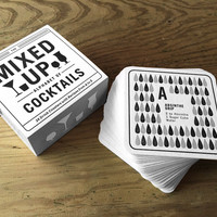 Alphabet of Cocktails Coasters | TYPE TWENTY SEVEN
