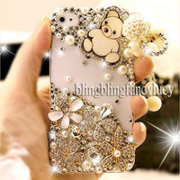 Best iPhone 4 case - iphone 4 case - Pearl iPhone 4 Case - Cute iphone 4 case bear - Flower iPhone 4 case - White iphone 4 case Charm