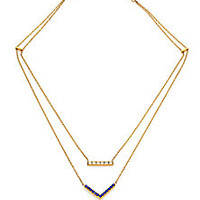 Michael Kors - Parisian Jewels Pavé Two-Strand Necklace - Saks Fifth Avenue Mobile
