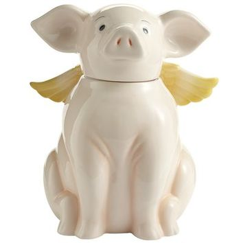 Flying Pig Cookie Jar