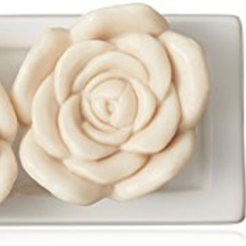Gianna Rose Tresors du Jardin Soaps with Soap Dish, 9.oz.