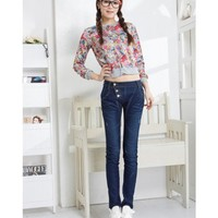 Dark Blue Long Pants Women Autumn Pencil Pants Jean Pants XS/S/M/L/XL/XXL @WH0352dbl $13.99 only in eFexcity.com.