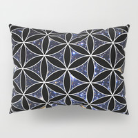 Flower of life in the space Pillow Sham by Azima