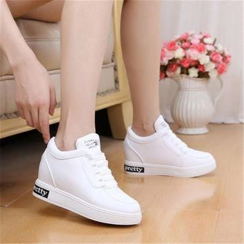2017 Women High Heels Platform Wedge Shoes Tenis Feminino Casual Basket Femme Krasovki