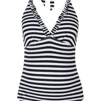 Topshop Stripe Frill One-Piece Maternity Swimsuit | Nordstrom