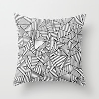 Abstraction Lines #2 Black and White Throw Pillow by Project M | Society6