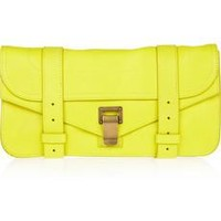 Proenza Schouler The PS1 Pochette leather clutch from Net-A-Porter | Beso.com