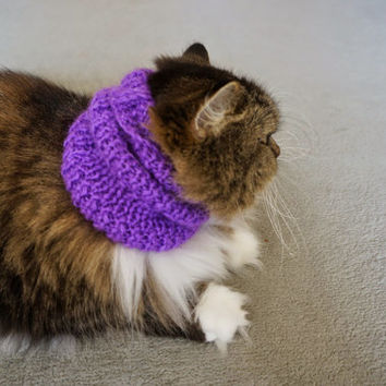 Cat clothes  Snood  Scarf for puppy  Neck Warmer for  Medium Dog Cat Hand Knitted READY TO SHIP