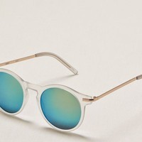 Aerie Women's Round Sunglasses (Clear)