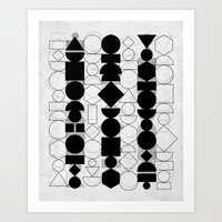 Geometry 6 Art Print by Mareike Böhmer Graphics