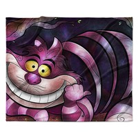 "Mandie Manzano ""Chesire Cat"" Pink Purple Fleece Throw Blanket"