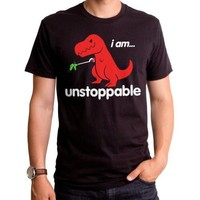 I Am Unstoppable Dinosaur Mens shirt Big Red T Rex Dino