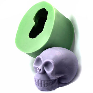 3D Skull Soap Mold  Silicone Handmade Candle Mold for Hallowmas