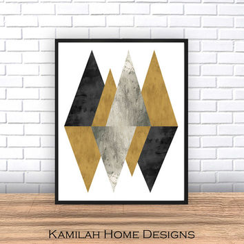 Abstract art, Scandinavian art, Abstract poster, mid century modern, Geometric poster, Geometric, Wall art, Geometric art, home decor