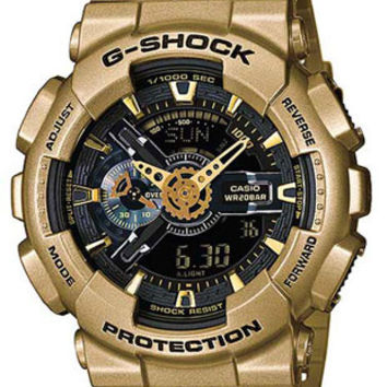 Casio Classic Mens Analog Digital G-Shock - Gold Tone  - Magnetic Resistant