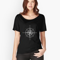 ' Rose of the Winds Silver Compass' Women's Premium T-Shirt by ppanda