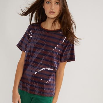 Sequin Striped Tee