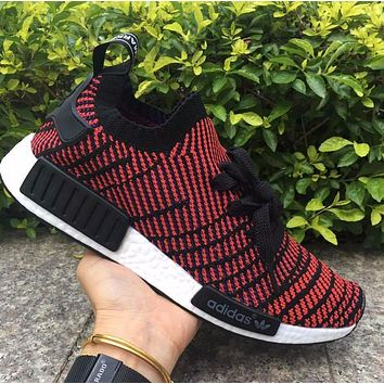 Adidas NMD R1 Stlt Spring Summer 2018 Line up Black/Red Running Sport Shoes Camouflage Sneakers Casual Shoes