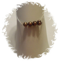 Brown Freshwater Pearl Ankle Bracelet 925 Sterling Silver Anklet Jewelry