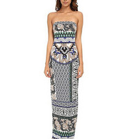 Large Size Floral Print Maxi Dress 9984