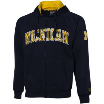 Michigan Wolverines Navy Blue Automatic Full Zip Hoodie Sweatshirt