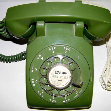 Vintage Green Stromberg-Carlson Rotary Phone Telephone - EX Working Great Made in USA