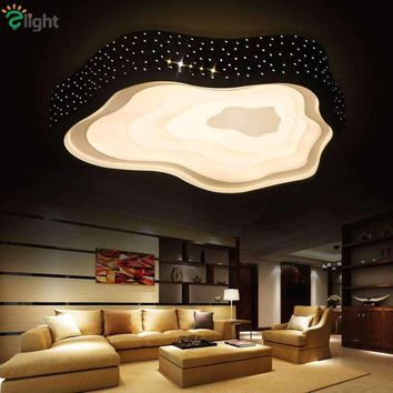 Modern Simple Metal Cloud Led Ceiling Chandeliers Lamp Lustre Stars Bedroom Dimmable Led Chandelier Lighting Led Lights Fixtures