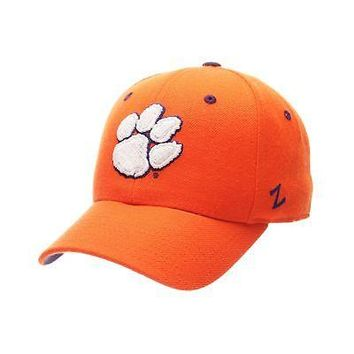 Licensed Clemson Tigers Official NCAA DHS Size 6 7/8 Fitted Hat Cap by Zephyr 100394 KO_19_1