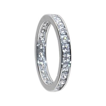 Sterling Silver 925 Cubic Zirconia Eternity Toe Ring