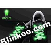 LED Shoelaces Jade - Blinkys - Flashing Jewelry - Body Lights - Blinking Pins -
