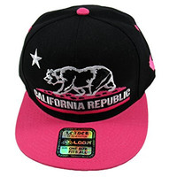 California Republic Snap Back Cap (Black/Pink)