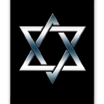 The Star of David Jewish Smokey Chrome Symbol iPhone 5 Quality Hard Snap On Case for iPhone 5/5s - AT&T Sprint Verizon - White Case