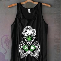 Monroe Guns and Weed Unisex Tank Top Funny and Music