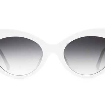 Crap Eyewear - Wild Gift White Sunglasses / Grey Gradient Lenses