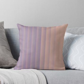 'Elegant Neutral and Lavender Palette ' Throw Pillow by Sheila Wenzel