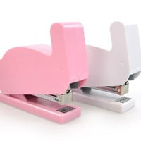 Bunny Stapler Pink And White